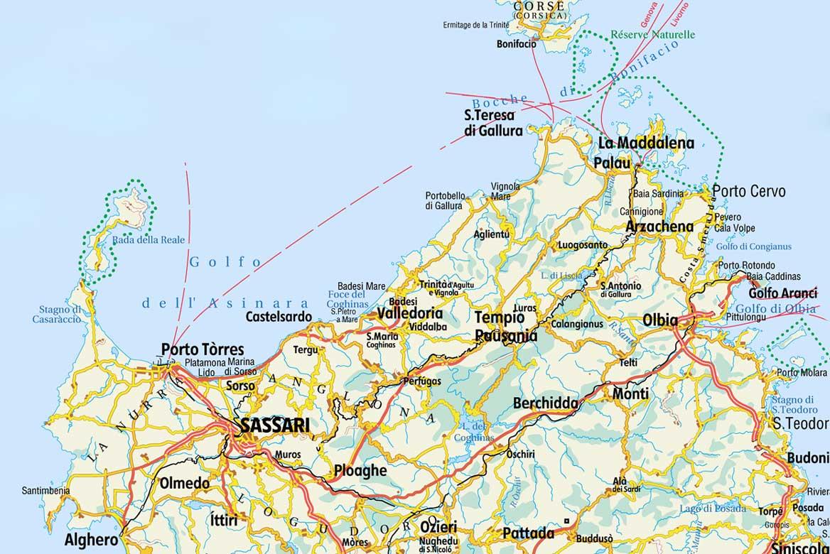 Cartina Sardegna Aglientu.Cartina Sardegna Web Sardinia Emotions