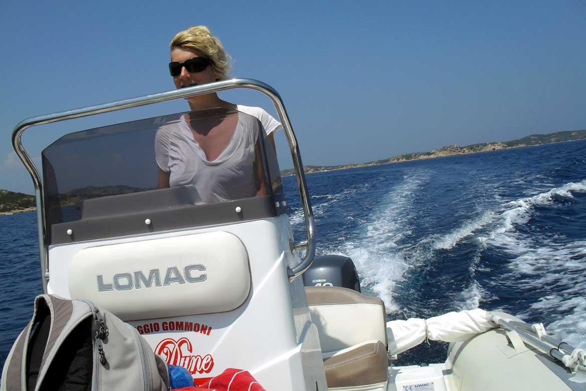Escursioni in gommone, arcipelago della Maddalena