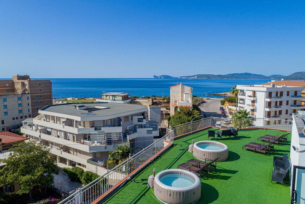 Hotel Villa Piras, Alghero, Szardínia